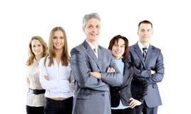 Группа в составе бизнесмены смотря на один другого Стоковое Изображение RF