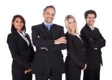 Группа в составе бизнесмены совместно Стоковая Фотография RF