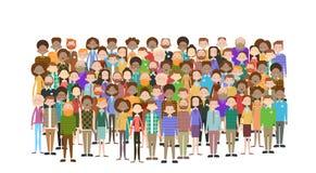Группа в составе больших бизнесмены предпринимателей толпы смешивает этническая разнообразную бесплатная иллюстрация
