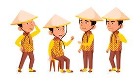Группа в составе вектор детей характера въетнамский иллюстрация штока