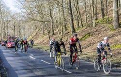 Группа в составе велосипедисты - Париж-славное 2017 стоковое фото rf