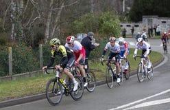 Группа в составе велосипедисты - Париж-славное 2019 стоковая фотография rf