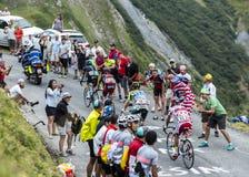 Группа в составе 4 велосипедиста - Тур-де-Франс 2015 Стоковая Фотография RF