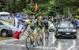 Группа в составе 3 велосипедиста - Тур-де-Франс 2014 Стоковое фото RF