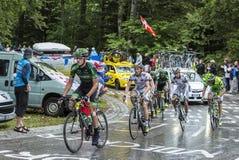 Группа в составе велосипедисты - Тур-де-Франс 2014 Стоковое Изображение