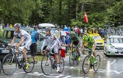 Группа в составе велосипедисты - Тур-де-Франс 2014 Стоковые Фотографии RF