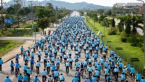 Группа в составе велосипедист на профессиональной гонке Стоковые Изображения
