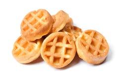 Группа в составе вкусные круглые мини waffles Стоковые Изображения RF
