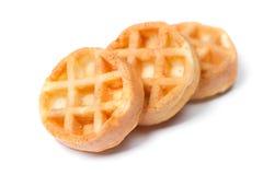 Группа в составе вкусные круглые мини waffles Стоковое фото RF