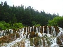 группа в составе водопадов долина jiuzhai стоковые изображения rf