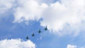 Группа в составе военный самолет Стоковые Фото