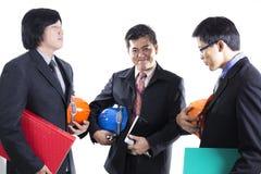 Группа в составе встреча инженера подготовленная человеком Стоковая Фотография RF