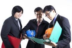 Группа в составе встреча инженера подготовленная человеком Стоковое Фото