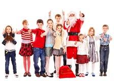 Группа в составе дети с Santa Claus. Стоковое Изображение