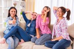 Группа в составе девушки Стоковое Фото