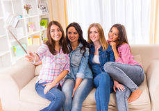 Группа в составе девушки Стоковое Изображение RF