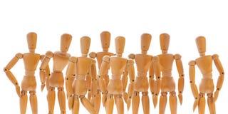 Группа в составе деревянные куклы Стоковые Фотографии RF