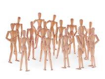Группа в составе деревянные dummyes Стоковое Фото