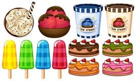 Группа в составе десерты Стоковое фото RF