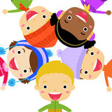 Группа в составе дети - зима Стоковое Изображение RF