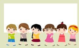 Группа в составе дети Стоковое Изображение RF
