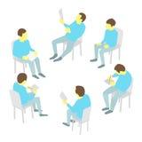 Группа в составе дело Конференция встречи команды 5 людей Стоковая Фотография
