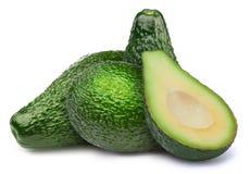 Группа в составе зеленые изолированные авокадоы Стоковые Фотографии RF