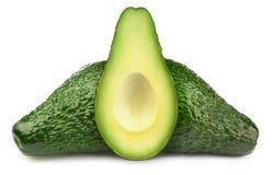 Группа в составе зеленые изолированные авокадоы Стоковое фото RF