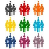 Группа в составе значок 3 женщин Стоковое Изображение RF