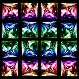 Группа в составе изолированные кристаллы стоковое изображение rf