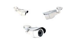 Группа в составе камеры слежения (CCTV) на белой предпосылке Стоковые Изображения RF