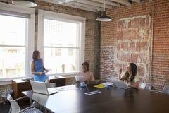 Группа в составе коммерсантки работая совместно в зале заседаний правления Стоковые Фотографии RF