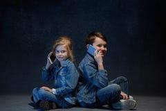 Группа в составе концепция студии детей Стоковые Изображения RF