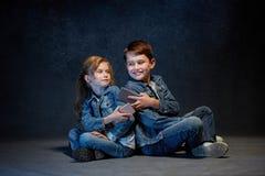 Группа в составе концепция студии детей Стоковое Изображение RF