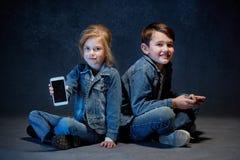 Группа в составе концепция студии детей Стоковое Фото