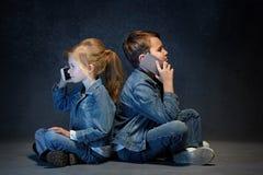 Группа в составе концепция студии детей Стоковая Фотография RF