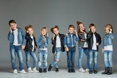 Группа в составе концепция студии детей Стоковое Изображение