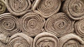 Группа в составе коричневый выбор рулона ткани/запас коричневой ткани для дела дизайна моды Стоковые Изображения