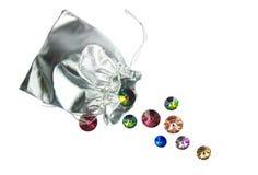 Группа в составе красивые сияющие кристаллы Стоковая Фотография