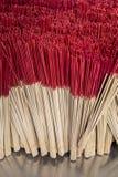 Группа в составе красная ручка ладана, предпосылка ручки амулета Стоковые Изображения