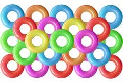 Группа в составе красочные кольца заплыва Стоковая Фотография