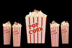 Группа в составе классические коробки попкорна Стоковые Фото