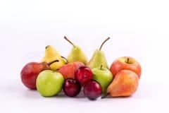 Группа в составе меридиональные плодоовощи на белой предпосылке Стоковые Изображения