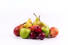 Группа в составе меридиональные плодоовощи на белой предпосылке Стоковая Фотография RF