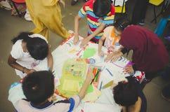 Группа в составе милый маленький preschool ягнится чертеж Стоковое Изображение RF