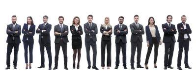 Группа в составе молодые успешные предприниматели стоя в ряд стоковое изображение