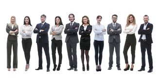 Группа в составе молодые успешные предприниматели стоя в ряд стоковое фото rf