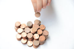 Группа в составе монетки Стоковое Изображение