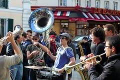 Группа в составе молодые музыканты в Париже Стоковое Изображение RF