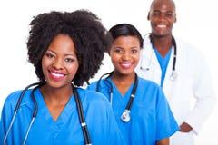 Черные работники медицинского соревнования стоковые изображения